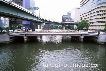 肥後橋と空港線のS字橋