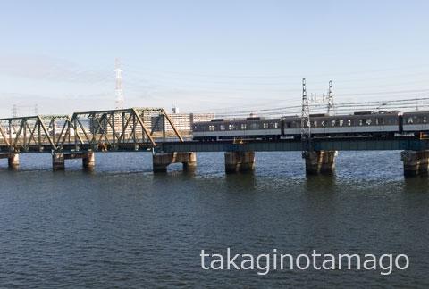 阪神なんば線 淀川橋梁 中央部付近