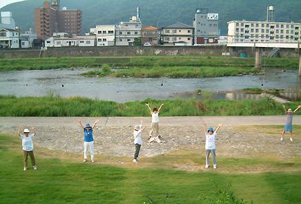 吉井川の朝