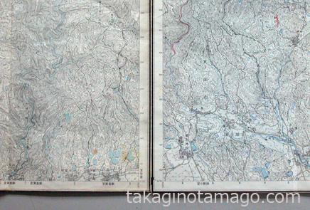 外図郭線のある地形図