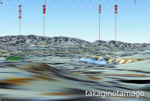 3D地形図による見通しの再現