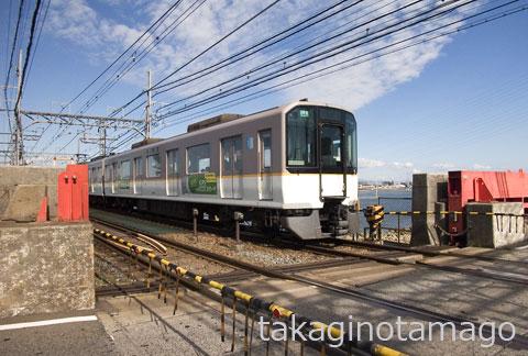 阪神電鉄なんば線 淀川陸閘