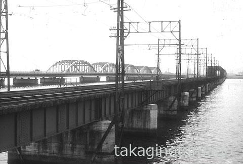 半世紀前の西大阪線淀川橋梁