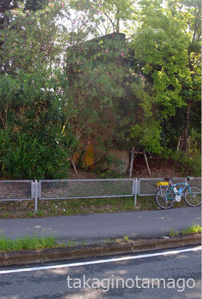 木立の中に残されたN-1のゲート標識