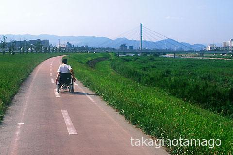 車椅子でのリハビリ