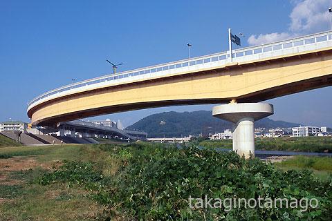 完成した猪名川第1橋梁