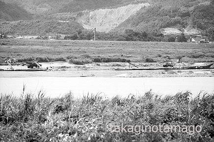 水無瀬川の採石場と淀川の船着き場