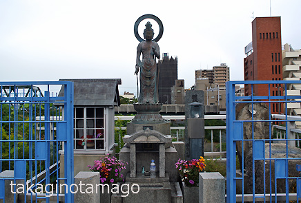 長柄橋南詰にある明倫観世音菩薩像