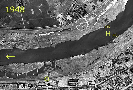 豊里滑空場付近の淀川河川敷